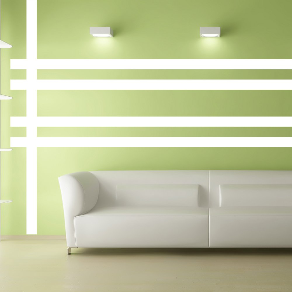 Amazon.com: Borders Unlimited 30015 White Simple Stripes: Home & Kitchen