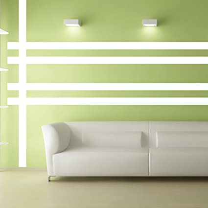 Amazon.com: Borders Unlimited 30015 White Simple Stripes: Home & Kitchen