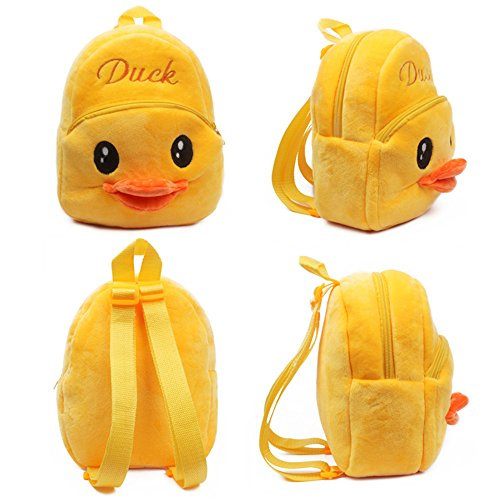 Senmi Children's Cartoon Animal Backpack Kindergarten Bag Toddler Kid's bag Duck