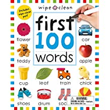 Wipe Clean: First 100 Words (Enclosed Spiral Binding): Includes Wipe Clean Pen