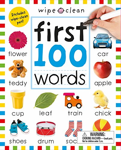 Builder Basic Vocabulary (Wipe Clean: First 100 Words (Enclosed Spiral Binding): Includes Wipe Clean Pen (Wipe Clean Learning Books))