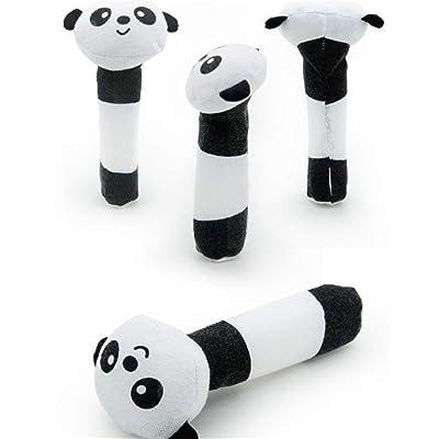 YESMAEA 1 Pcs Baby Rattle Stick Toys Panda BIBI Stick Cloth Toy: Home & Kitchen