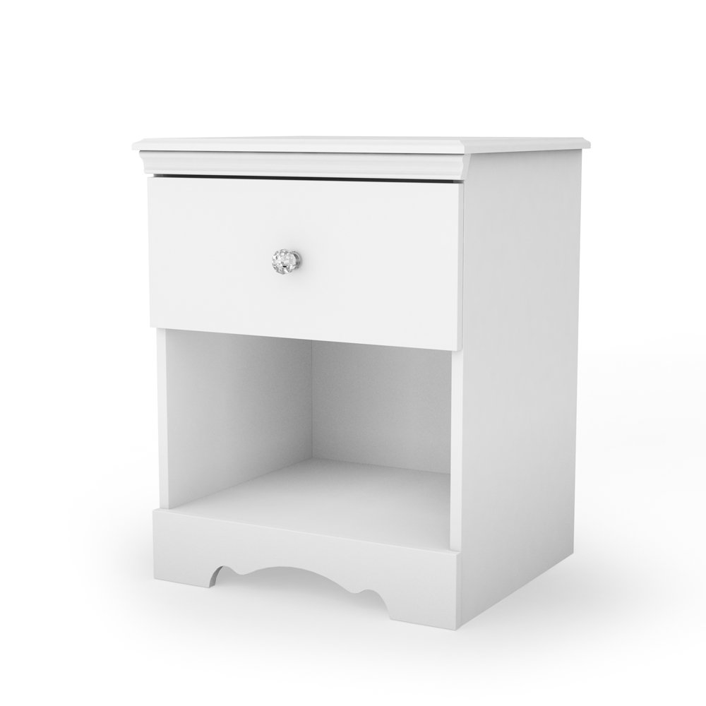 amazoncom south shore furniture crystal collection night table  - amazoncom south shore furniture crystal collection night table purewhite kitchen  dining