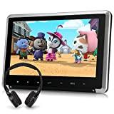 "10.1"" Car DVD Player with Free Wireless Headphone Support HDMI Input, Sync Screen, AV in & Out, Last Memory, USB SD - NAVISKAUTO"