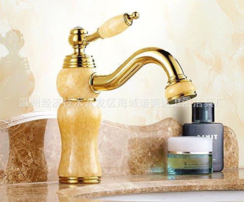 LINA-European golden copper natural jade taps , luxury