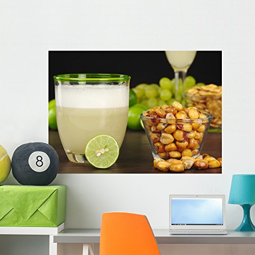 (Wallmonkeys Peruvian Cocktail (Pisco Sour) and Roasted Corn Wall Decal Peel and Stick Graphic WM69189 (36 in W x 26 in H))