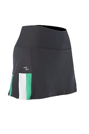 Naffta Tenis Pádel Falda-pantalón, Mujer, Gris Ceniza/Verde ...