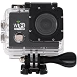 Acouto Action Camera 4K 12MP 30M Waterproof Underwater Sport Camera Vedio Camcorder 170 Degree Wide Angle Wifi Cam with Waterproof Housing Case Accessories kits (black)