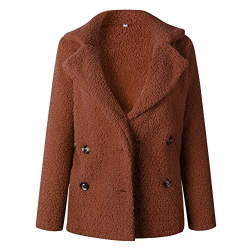 Forro Polar Sintética Chaqueta Bolsillo Outwear Invierno De Con Piel Gran Color Tamaño Abrigo Abierto Caramelo Pronghorn nI0HwqYUaY