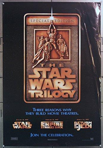 Star Wars  Original THE STAR WARS TRILOGY Movie Poster LUCAS