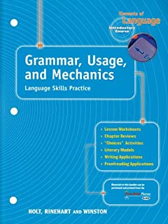 Grammar usage and mechanics elements of language 1st course grammar usage and mechanics language skills practice elements of language grade 6 fandeluxe Image collections