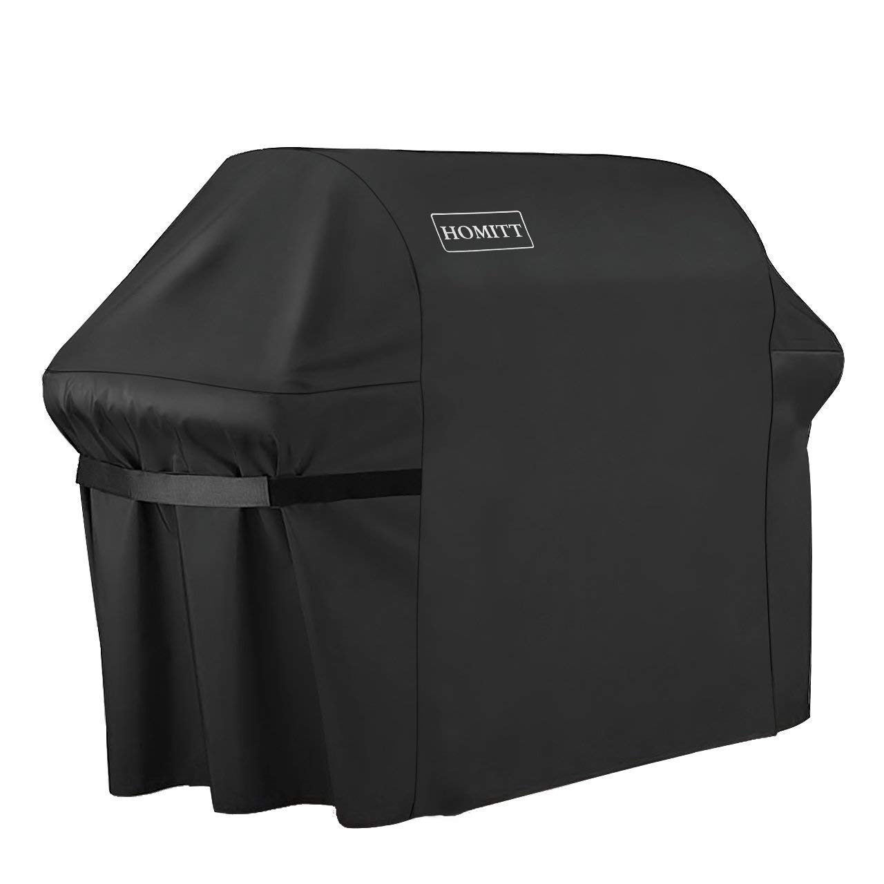 Homitt Gas Grill Cover, 64-inch 600D Heavy Duty Waterproof BBQ Cover with Handles and Straps for Most Brands of Grill -Black by Homitt