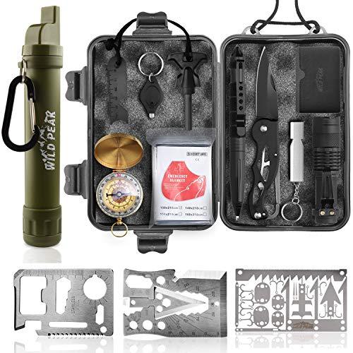 Wild Peak Prepare-1 Survival Tool Kit Bundle with Stay Alive-2 Outdoor Water...