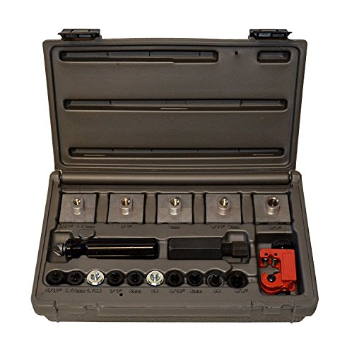 Cal-Van Tools 165 Master Inline Flaring Kit - Double and Single Flares, Brake Flaring Tools. Professional Tool Kit (Bubble Kit Flare)