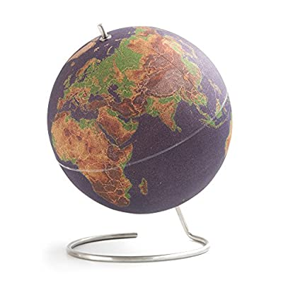 Suck UK LARGE DESKTOP CORK PUSH PINS INCLUDED | EDUCATIONAL WORLD MAP | TRAVEL ACCESSORIES | ADVENTURE & MEMORIES DISPLAY | Globe, Multicolour: Home & Kitchen