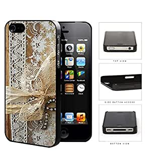 Vintage Lace Design Scrapbook Cover Hard Plastic Snap On Cell Phone Case Apple iPhone 4 4s