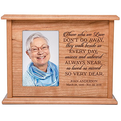Cremation Urns for Human Ashes Memorial Keepsake box for cremains, personalized Urn for adults and children ashes Those who we love DON T GO AWAY SMALL portion of ashes holds 4×6 photo holds