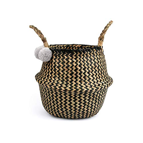 Asteria-Ashley Folding Basket Dirty Laundry Storage Basket Home Storage Simple Decoration,Color as picture1,27 x 24 cm]()