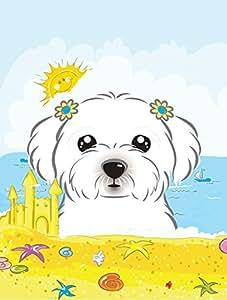 Caroline tesoros del bb2076chf verano playa bandera maltesa lona casa, grandes, Multicolor