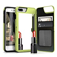 iPhone 7 Plus Case, [Vettore by Zizo] All-in-One Wallet Case with [iPhone 7 Plus Screen Protector] Built-In Mirror and [Kickstand] - iPhone 7 Plus