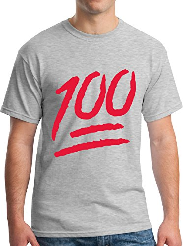 100 Percent Red Emoji Android Logo Tee XL Grey ()