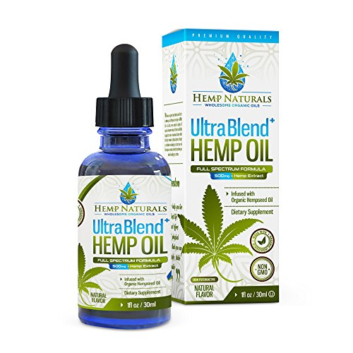 Hemp Naturals :: Organic Hemp Oil :: with 500 mg :: helps with Anxiety Relief, Chronic Pain,Sleep, Mood :: 30ml - (1oz) Natural flavour