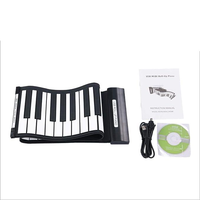 Mano Rodillo Piano 88 Clave Engrosamiento Profesional Versión Plegable Teclado Portátil Adulto Práctica Teclado MIDI Con Y Girar: Amazon.es: Bricolaje y ...