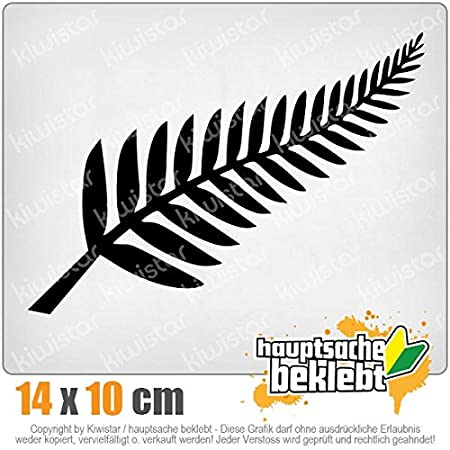 Sticker Aufkleber Neon Silver Fern // Neuseeland // Kiwis 14 x 10 cm IN 15 FARBEN Chrom