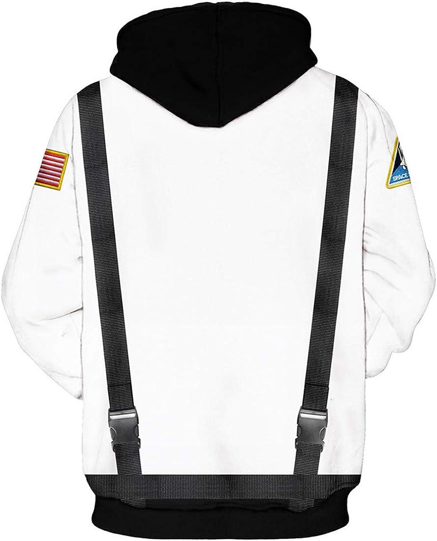 EUDOLAH Sweat /à Capuche Femme NASA Astronaute Imprim/é 3D Manche Longue Sweat-Shirt Pullover Hiver avec Poche