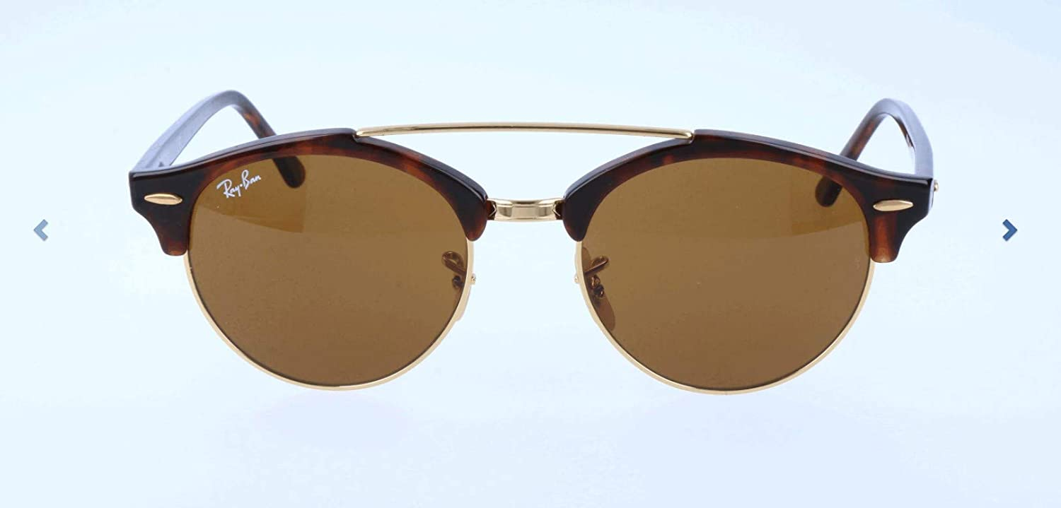 TALLA 51. Ray-Ban Sonnenbrille Clubround Double Bridge (RB 4346)