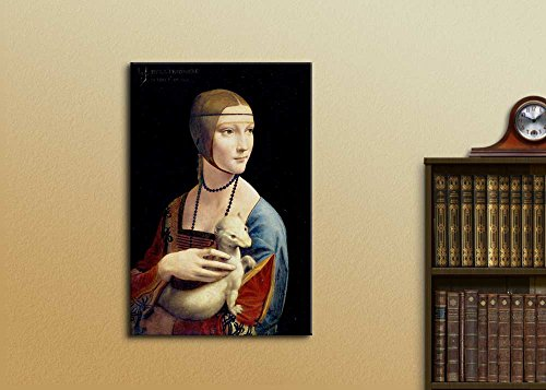 Lady with an Ermine by Leonardo da Vinci Print Famous Oil Painting Reproduction