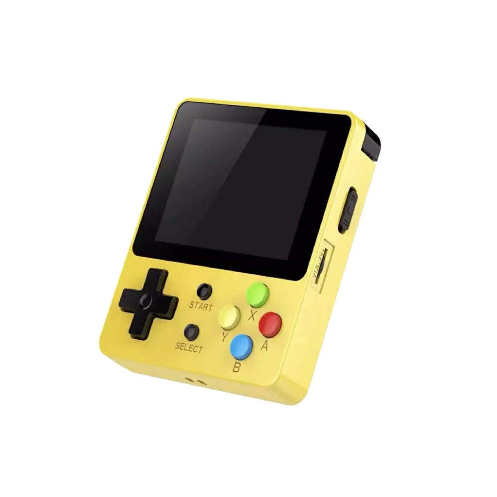 1KTon Mini Recreational Machines Game Player 2.6 Inches Screen Thumbs Palm Console of Nostalgic Children (Yellow)