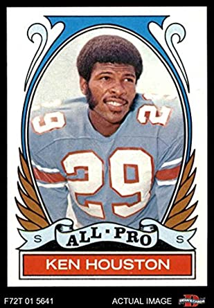 587b1526231 Amazon.com: 1972 Topps # 287 All-Pro Ken Houston Houston Oilers (Football  Card) Dean's Cards 7 - NM Oilers: Collectibles & Fine Art