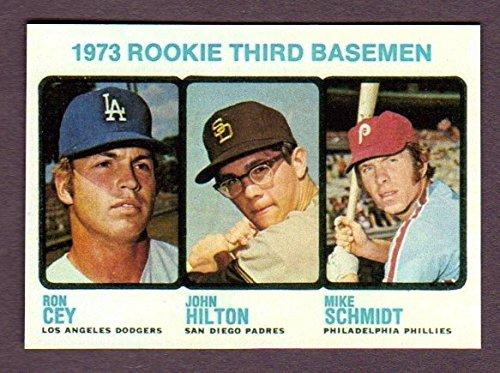 Mike Schmidt 1973 Baseball Rookie Reprint Card (also featuring Ron Cey, John Hilton) (Phillies) (Baseball Card Schmidt)