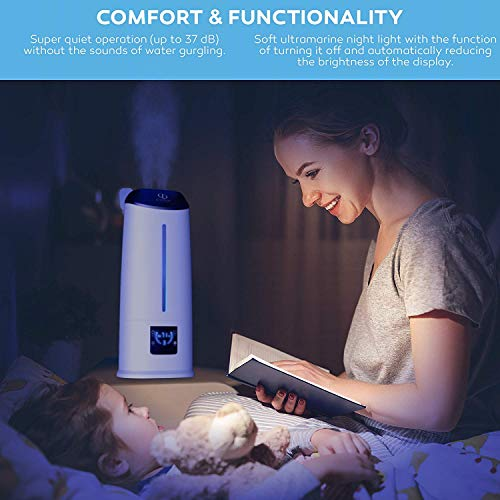 Cool Mist Humidifier - Air Humidifier - Humidifiers for Bedroom - Baby Vaporizer Room Humidifier - Home Top Fill Filterless Ultrasonic Humidifiers for Babies Kids - Air Mist 6l Large Room Humidifier by DIVERSO DEVICES (Image #3)
