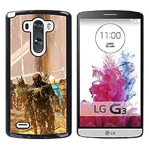 A-type Arte & diseño plástico duro Fundas Cover Cubre Hard Case Cover para LG G3 (Superhéroes juego)