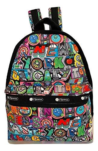 LeSportsac NYC - New York City, Exclusive Basic Backpack/Rucksack, Style 7812/Color K148 (Soho Nyc)
