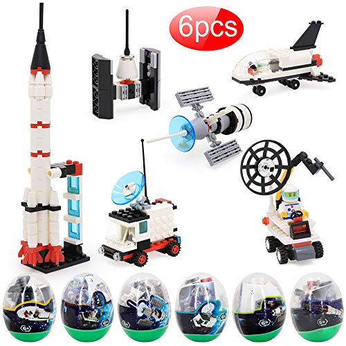 6 Set Space STEM Toys For 7 Year Old Boys, Educational Science Kits With Building Blocks, Creative Toys For Boys And Girl, Simple Assemble Building Kits, Wonderful As Boy Toys Age 8, Role Pretend Game