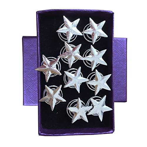 (LLAMEVOL Star Hair Spirals Bridal Hair Clips Vingate Star Hair Pins 10 Packs Wedding Party Headpieces for Women and Girls)