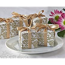 Artisano Designs Classic Damask Favor Box in Gold, 24-Pack