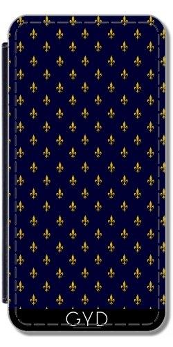 Leder Flip Case Tasche Hülle für Apple Iphone 7 Plus / 8 Plus - Lilien by wamdesign