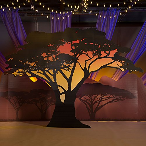 (9 ft. 8 in. Wild Jungle Safari Dreams Large Tree Silhouette Standup Photo Booth Prop Background Backdrop Party Decoration Decor Scene Setter Cardboard)