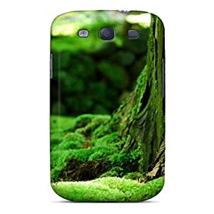For Galaxy S3 Premium Tpu Case Cover Green Moss Landscape Protective Case