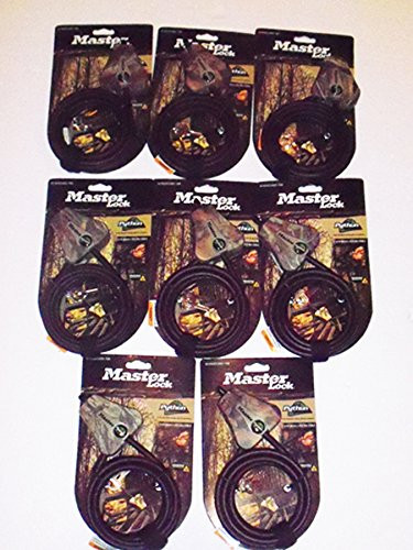 Master Lock - Python Adjustable Camouflage Cable Locks 8418KA CAMO 8pk (8)