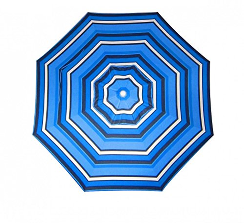 - Furniture Barn USA 9 Foot Tilt and Crank Octagon O'Bravia Umbrella - Dining Height-Hampton Stripe