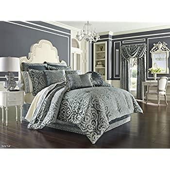 Amazon Com J Queen New York Sicily Comforter Set In Teal King