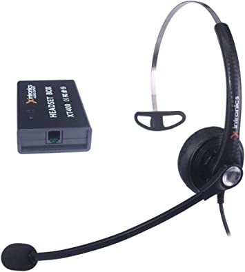 Xintronics Auriculares Teléfono Fijo Mono Universal Compatible con Mayoría Teléfonos Fijos, Cascos RJ9 con Botón de Respuesta, Micrófono con Cancelación de Ruido, Control de Volumen(XT400): Amazon.es: Electrónica