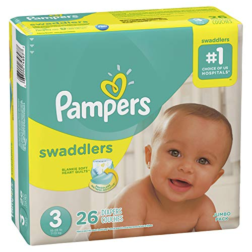 Pampers Swaddlers, Diapers, Size 3, 26 Count