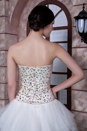 kurze Weiß BRIDE GEORGE Abendkleid Mode Liebsten Suess Neue Perlen SWPaq