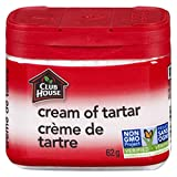 Club House, Quality Natural Herbs & Spices, Cream of Tartar, Plastic Can, 62g
